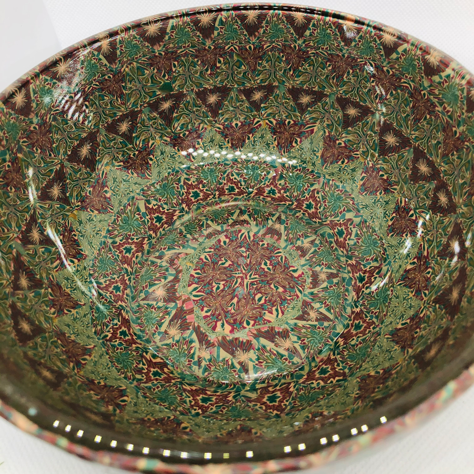Stunning Patterned Decorate Bowl – $54