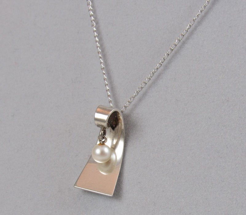 Sterling Silver & Pearl Pendant – $200