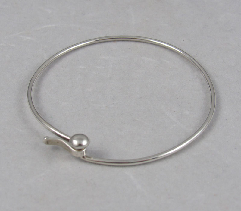 Sterling Silver Bangle w/ Bead Clasp – $175