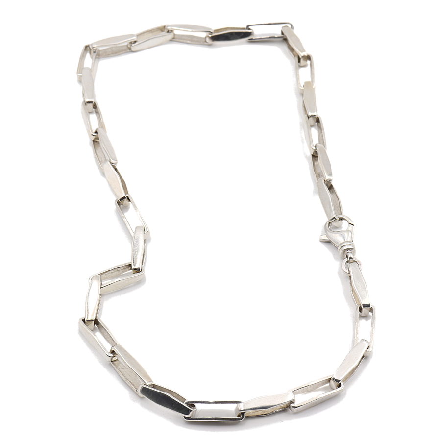 Box Rectangle Sterling Silver Necklace $350
