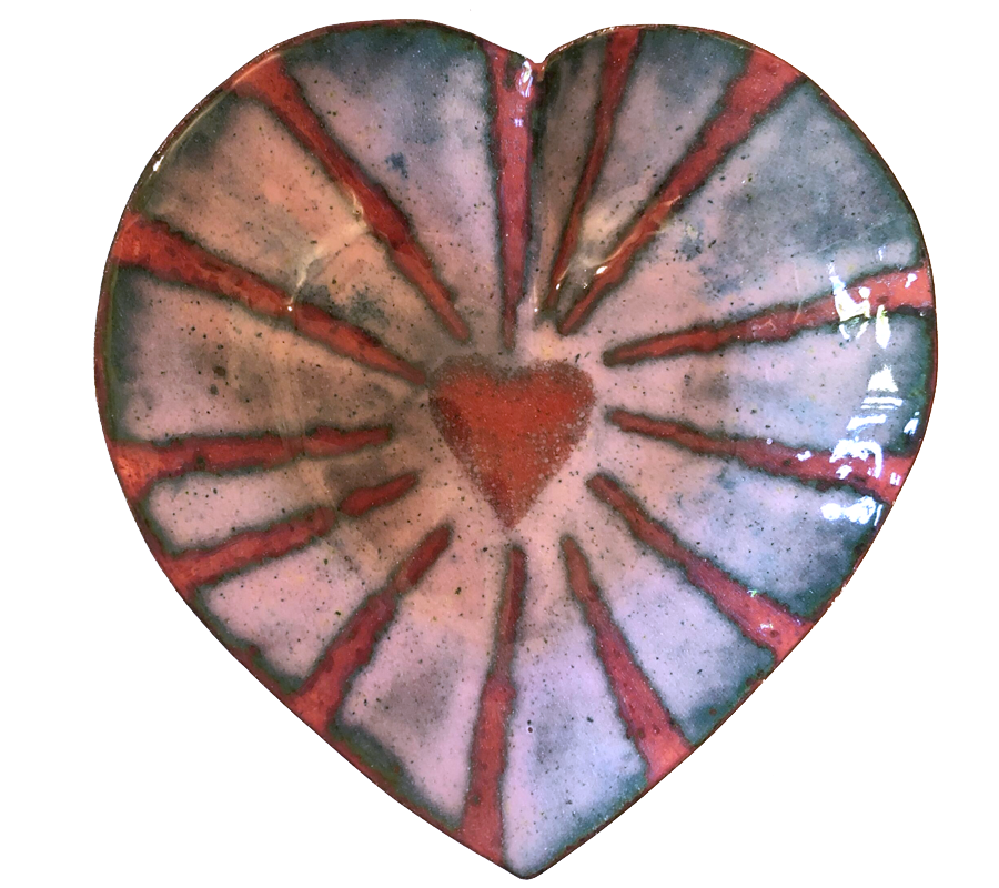 Pink Heart w/ Red Center – $48