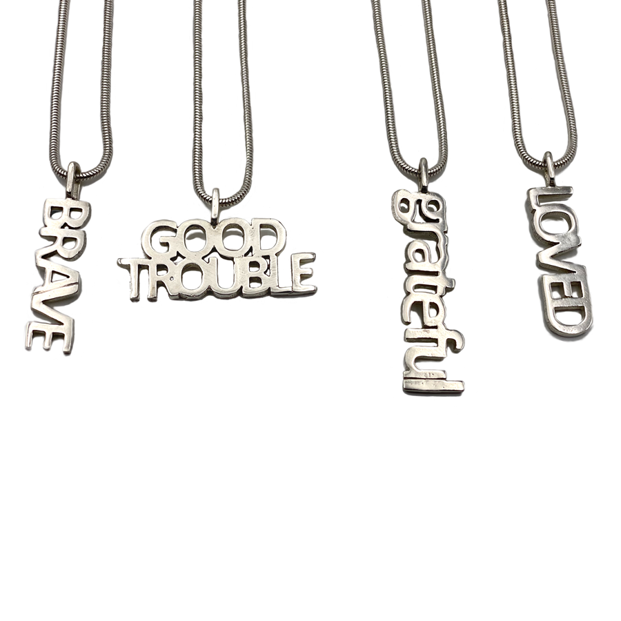 Sterling Silver Affirmation Necklaces $60each
